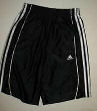 ADIDAS BLACK BASKETBALL ATHLETIC SHORTS BOY's GIRL's SIZE YOUTH LARGE 12 14 16