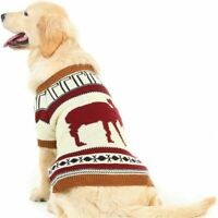 Reindeer Dog Sweater Pet Holiday Festive Winter Clothes Extra Small