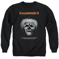 Halloween Sweatshirt Pumpkin Skull Poster Black Pullover
