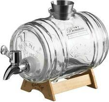 Kilner Barrel Glass Drinks Dispenser with Wooden Stand, 1 Litre