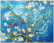 "Blossoming Almond - 20x16"" Hand Painted Van Gogh Oil Painting On Canvas Wall Art"