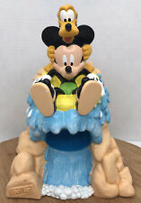 Disney Mickey Mouse and Pluto Splash Mountain Dixie Cup Dispenser Bathroom 3oz