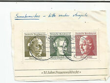 GERMANY;1969 50th Anniversary of Womens Right of Voting-MINISHEET;  used s*