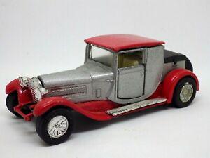 FIGURINE voiture vintage Traction à friction ROUGE GRIS 11 CM