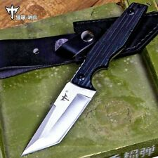 Straightback Knife Hunting Combat Tactical Jungle Fixed Blade G10 Fibers Handle