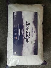 2 x Snuggledown back Side Sleeper Deep Filled Firm Support Pillow cotton made uk