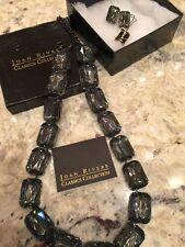Hermoso Collar y Pendientes de Joan Rivers Topacio con Acabado de Hematites