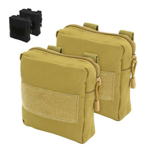 2pcs K9 Dog Side Bags Detachable Pouches for Tactical Harness Training Black Tan