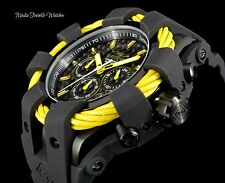 Invicta 50mm Bolt Sport Chronograph YELLOW BEZEL Black Dial Silicone Strap Watch