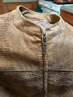 bamboo traders jacket Size 3x Brown Polyester Front Zip