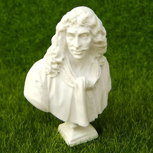 Bust of Moliere Houdon Sculpture Statue Miniature Replica Reproduction Art Toy