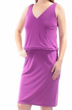 Dress 1X Plus Lauren Ralph Lauren $135 NWT Purple V-Neck Sheath Pull-On MC895