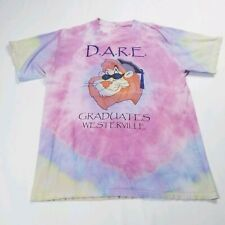 Vintage Dare T-Shirt - Size M - Tie Dye Pink, Purple and Green
