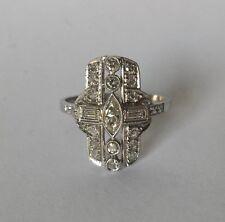 Platinum Diamond Vintage Art Deco Ring .73 tcw 3.4 grams Sz 6