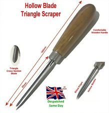 Hollow Scraper Blade Engineers and Machinist Tool Wooden Handle Triangle Blade