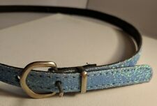 Blue Sparkle Glam Thin Belt Adjustable with Buckle