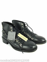 ZARA BLACK LEATHER LACE-UP ANKLE BOOTS SHOES EUR 37 39 40 RRP £79.99