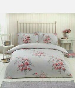 Kate King Duvet Set 100% Brushed Cotton Flanelette Grey CHEAPEST ON EBAY