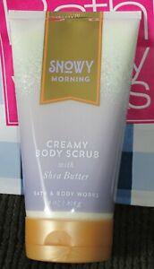 Bath & Bodyworks 'Snowy Morning' Creamy Body Scrub 8.oz./226g