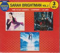 3 CD's Sarah Brightman Vol.2 CD NEW Time To Say Good Bye Symphony La Luna OFERTA