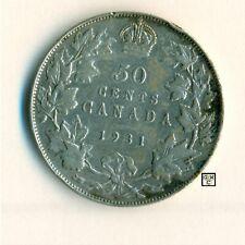 Canada 1931 - 50cents Coin ; Fine  ; CPF