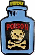 3979 Poison Bottle Skull Crossbones Toxic Punk Goth Horror Enamel Pin Button