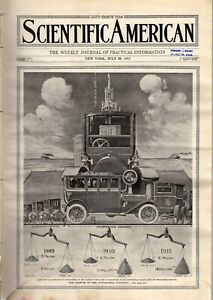 1912 Scientific American  July 20 - Harry Houdini; Automobile growth; Samaria