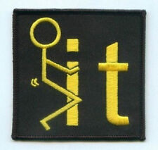 F - IT EMBROIDERED IRON ON BIKER PATCH