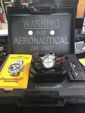 BREITLING EMERGENCY MISSION CHRONOGRAPH STAINLESS STEEL WATCH W/ ORIGINAL BOX
