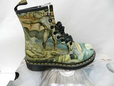 Dr Martens 1460 William Blake Chaussures 37 Bottes Bottines Tate Multi UK4 Neuf