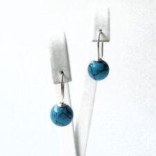 Handgefertigte runde Ohrschmuck mit Durchzieher echten Edelsteinen