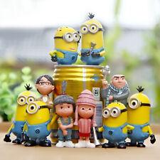 1 Set 10 Disney Minions Despicable Me Cake Ornament Figures Toy Collection 5-9cm