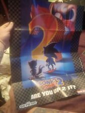 Vintage Sega Genesis Game Gear Sonic 2 Insert Ad Poster Double Sided