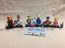 Lego Simpsons Series 2 Minifigure Lot of 6 Figures Bart Homer Dr Hibbert Lisa