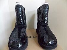 Women's Black UGG Classic Short Sequin Boots Size 9