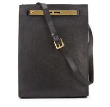 [Sophie Hulme] Black Keyhole Shopper Leather Shoulder Bag / Limited Design / New
