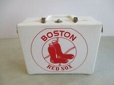"""VINTAGE BOSTON RED SOX LUNCH BOX WITH THERMOS 6.5"""" x 8.5"""" x 3.5"""""""