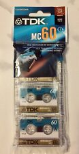 New listing Microcassettes Tdk Sealed 3 Pack 60 Min Mini tapes Dictation answering machine