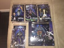 NECA Heroes Of The Storm Figure Set Nova, Tyrael, Illidan, Arthas, and Stitches