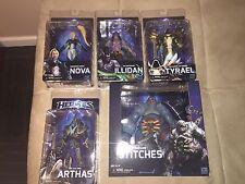NECA Heroes Of The Storm Figure Set Nova, Tyrael, Illidan, Arthas, and Stitches