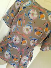 Clements Ribeiro Portobello 10 style vintage imprimé floral Peplum Tie Top BN
