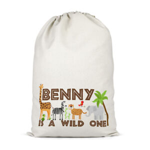 Unisex Wild One Custom Name Present Sack Personalised Birthday Gifts For Kids
