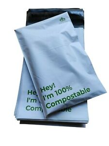 100 x 15*22cm Compostable Mailing Bags Parcel Poly Mailer Mail Bag Eco-Friendly