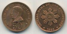 Philippines 50 centimos 1966 pattern in copper rare