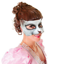 ADULT CAT COSTUME MASK WHITE LATEX RUBBER FACE MASK NEW