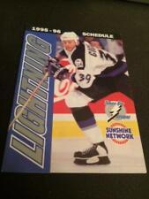 1995-96 Tampa Bay Lightning Hockey Pocket Schedule Sunshine/Coke Version
