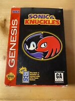 Sega Genesis - Sonic & Knuckles - Incl. Box, Game, & Instructions - Tested/Works
