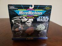 Galoob Micro Machines Star Wars II Landspeeder Millennium Falcon Sandcrawler MIB