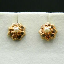 O47 - Boucles d'Oreilles en OR 18K, Perles de Culture