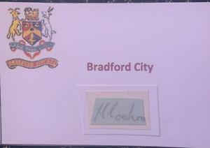 Signed 1939s 1940s Hubert Cockcroft Bradford City FC Autograph Photo Signature